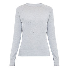 Buy Ted Baker Sapphir Crystal Stud Jumper, Mid Grey Online at johnlewis.com