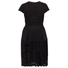 Buy Ted Baker Jamisen Layered Lace Dress, Black Online at johnlewis.com