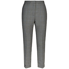 Buy Jaeger Wide Leg Prince Of Wales Trousers, Black/Ivory Online at johnlewis.com