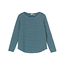 Buy Fat Face Breton Marl Stripe Top, Deep Cyan Online at johnlewis.com
