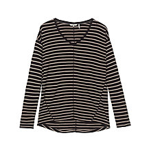 Buy Fat Face V Neck Striped Top, Phantom Online at johnlewis.com