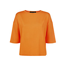 Buy Jaeger Daisy Cook Jersey Top, Orange Online at johnlewis.com