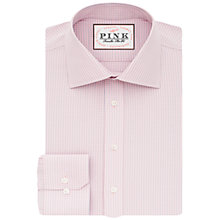 Buy Thomas Pink Patterson Check Slim Fit XL Sleeve Shirt, Pale Pink/Blue Online at johnlewis.com