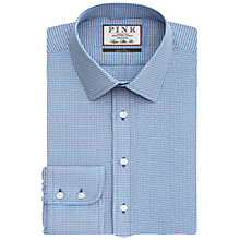 Buy Thomas Pink Hendrick Check Super Slim Fit Shirt, Pink/Blue Online at johnlewis.com