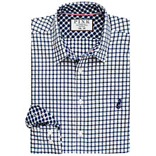 Buy Thomas Pink Russell Check Slim Fit Shirt, Navy/White Online at johnlewis.com