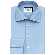 Buy Thomas Pink Hopkins Texture Slim Fit Shirt, Pale Blue Online at johnlewis.com