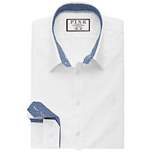 Buy Thomas Pink Herbie Plain Slim Fit Shirt, White/Blue Online at johnlewis.com