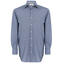 Buy Thomas Pink Bared Check Classic Fit Shirt, Navy/Yellow Online at johnlewis.com
