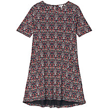 Buy Fat Face Simone Morris Print Dress, Black Online at johnlewis.com