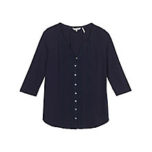 Buy Fat Face Ellen Lace Top, Navy Online at johnlewis.com