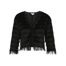 Buy Whistles Sparkle Fringe Jacket, Black Online at johnlewis.com