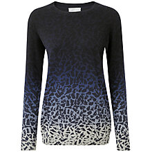 Buy Pure Collection Elizabeth Boyfriend Jumper, Animal Print Online at johnlewis.com