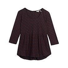 Buy Fat Face Penny Wheatsheaf Peplum Top, Navy Online at johnlewis.com