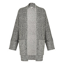 Buy Whistles Textured Cardigan, Grey Online at johnlewis.com