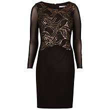 Buy Gina Bacconi Jersey Dress With Sequin Bodice, Black Online at johnlewis.com