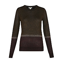 Buy Whistles Stripe Sparkle Jumper, Multi Online at johnlewis.com
