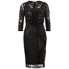 Buy Gina Bacconi Baroque Sequin Dress And Jacket, Black Online at johnlewis.com