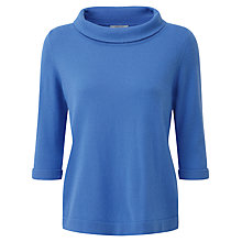 Buy Pure Collection Shiloh Cashmere Bardot Jumper, Nordic Blue Online at johnlewis.com