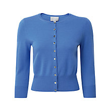 Buy Pure Collection Alsa Cropped Cardigan, Nordic Blue Online at johnlewis.com