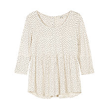 Buy Fat Face Penny Seed Ditsy Peplum Top, Ivory Online at johnlewis.com