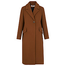 Buy Whistles Bonnie Single Button Coat, Brown Online at johnlewis.com