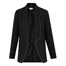 Buy Whistles Bead Detail Crepe Blazer, Black Online at johnlewis.com