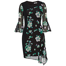 Buy Gina Bacconi Floral Chiffon Crepe Dress, Black/Green Online at johnlewis.com