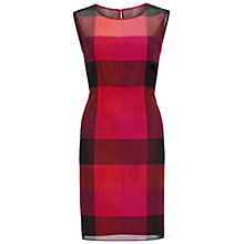 Buy Gina Bacconi Check Chiffon Dress, Multi Online at johnlewis.com
