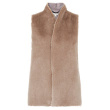 Buy Whistles Faux Fur Gilet, Neutral Online at johnlewis.com