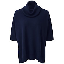 Buy Pure Collection Alina Cashmere Poncho, Navy Online at johnlewis.com