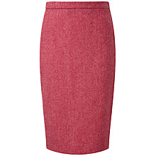 Buy Pure Collection Cecil Wool Pencil Skirt, Pink Herringbone Online at johnlewis.com