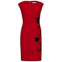 Buy Gina Bacconi Moss Crepe Dress, Red Online at johnlewis.com