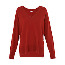 Buy Whistles Slouchy Cashmere V-Neck Jumper Online at johnlewis.com