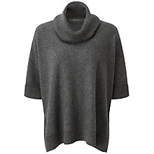 Buy Pure Collection Cecelia Cashmere Poncho, Soft Charcoal Online at johnlewis.com