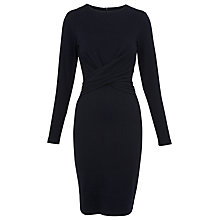 Buy Whistles Ira Tie Front Pinstripe Dress, Navy Online at johnlewis.com