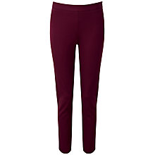 Buy Pure Collection Harlow Cotton Stretch Trousers, Winter Berry Online at johnlewis.com