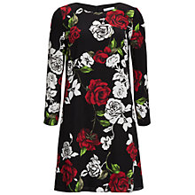 Buy Gina Bacconi Rose Modern Crepe Georgette Dress, Red Online at johnlewis.com