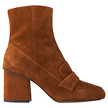 Buy Whistles Ambrose Square Toe Loafer Boots, Tan Online at johnlewis.com