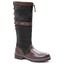 Buy Dubarry Glanmire Lace Long Boots, Black/Brown Online at johnlewis.com