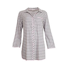 Buy Cyberjammies Lotus Check Nightshirt, Grey/Ivory Online at johnlewis.com