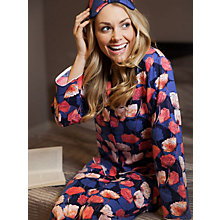 Buy Cyberjammies Winter Flower Pyjama Set, Blue/Orange Online at johnlewis.com