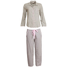 Buy Cyberjammies Lotus Check Pyjama Set, Grey/Ivory Online at johnlewis.com