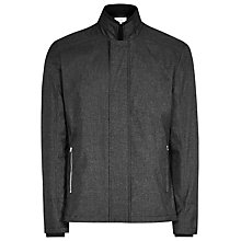 Buy Reiss Coltman Concealed Zip Jacket, Charcoal Online at johnlewis.com