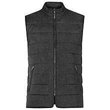 Buy Reiss Mortimer Quilted Gilet, Black Online at johnlewis.com