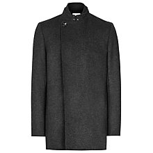 Buy Reiss Inferno Wool Blend Coat, Charcoal Online at johnlewis.com