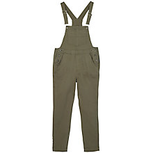 Buy Fat Face Garment Dye Dungarees, Basil Online at johnlewis.com