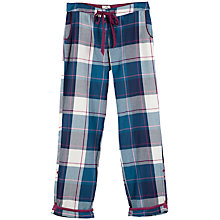 Buy Fat Face Tidworth Check Trousers, Navy Online at johnlewis.com