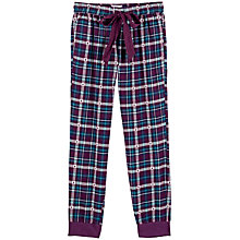Buy Fat Face Upavon Jacquard Check Cuff Pyjama Bottoms, Fig Online at johnlewis.com