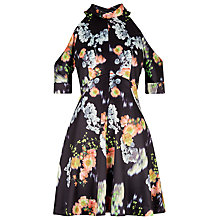 Buy Whistles Aiko Cold Shoulder Dress, Black/Multi Online at johnlewis.com