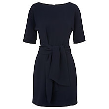 Buy Whistles Cecil Tie Front Dress, Navy Online at johnlewis.com